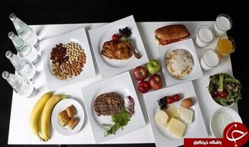 مصرف غذا در هنگام ورزش
