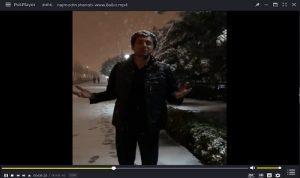 کلیپ نجم الدین شریعتی زیر بارش برف