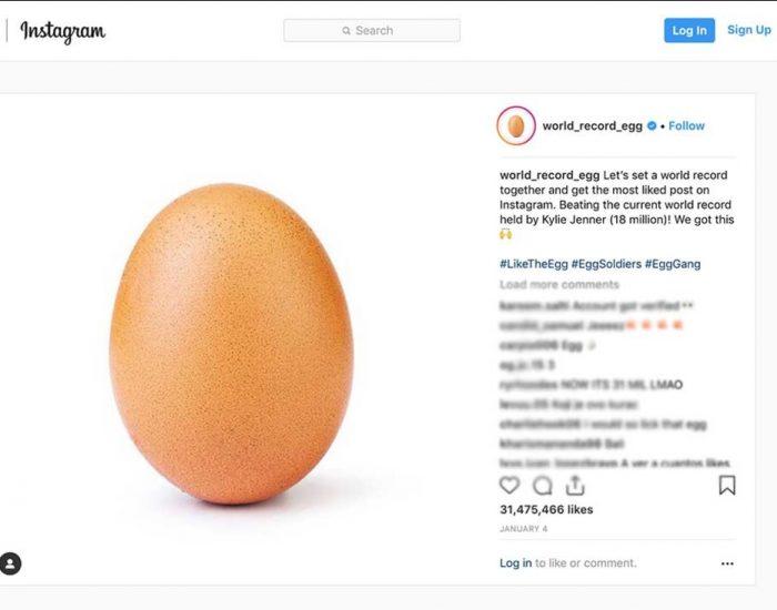تحلیل تخم مرغ پر لایک اینستاگرام