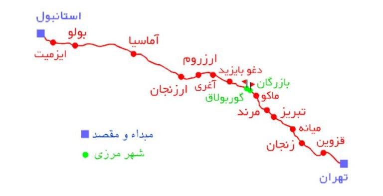 قیمت قطار تهران استانبول چقدر است؟