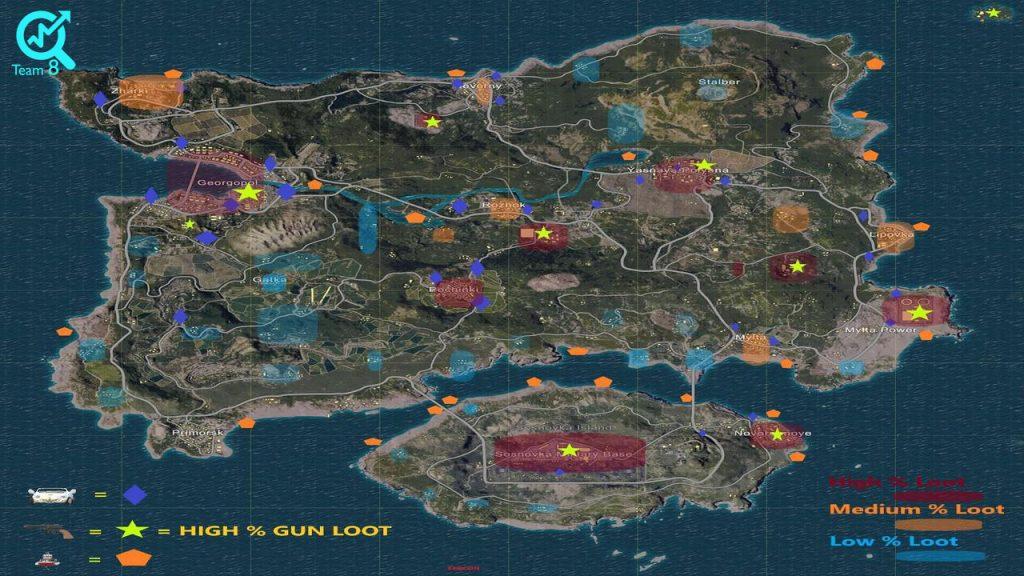 از نقاط مهم در نقشه های بازی پابجی اطلاع دارید؟
