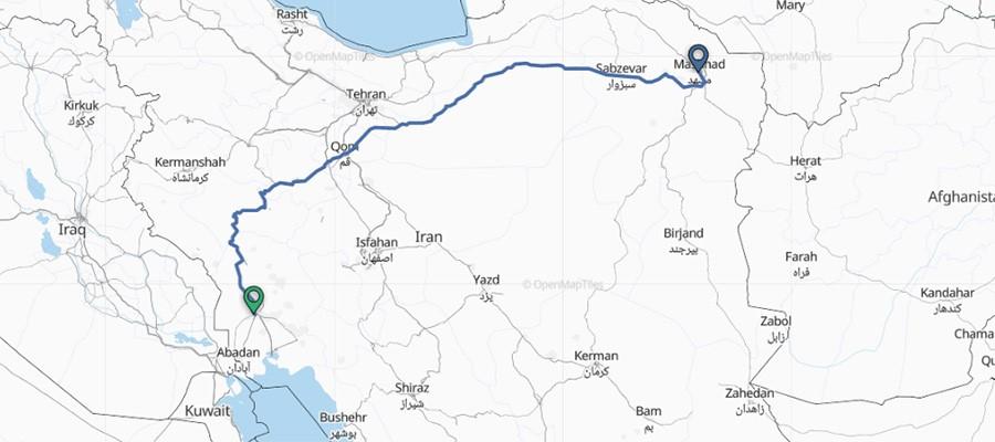 سفر از اهواز به مشهد و بلعکس چه مسیر هایی را در بر می گیرد؟