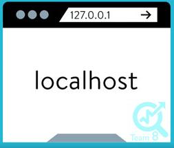 عبارت localhost در مرورگر خود وارد کنید