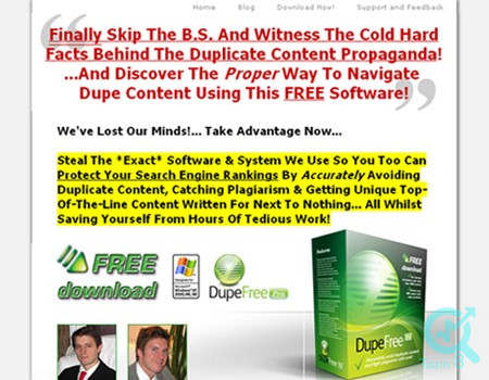 استفاده از ابزار Dup free pro برای شناسایی محتوای کپی شده :