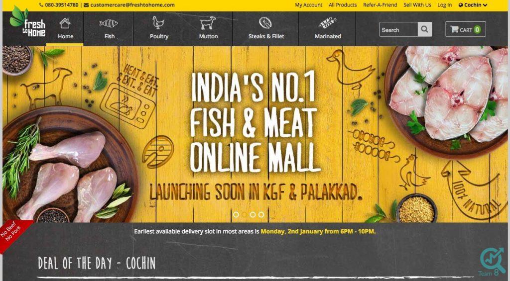 1-فروشگاه های آنلاین برای فروش گوشت و ماهی :