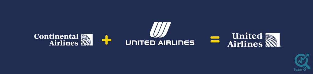 5 – 4 – ترکیب خطوط هوایی یونایتد ایرلاینز و کنتیننتال ایرلاینز