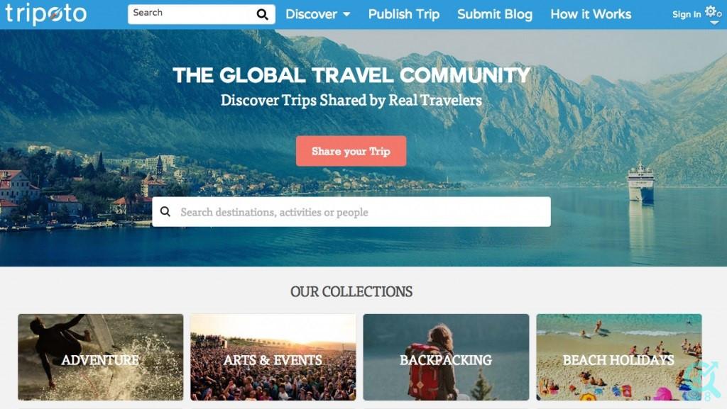 5-شبکه اینترنتی آنلاین به منظور share کردن داستان های مسافرت :